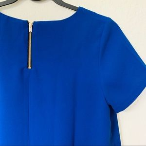 Forever 21 Royal Blue Short Sleeve Blouse